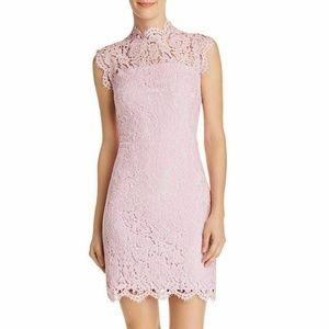 Aqua Scalloped-Lace Sheath Dress Size S
